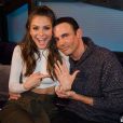 Maria Menounos et son compagnon de longue date Keven Undergaro se sont fiancés. Il a fait sa demande sur le plateau de l'émission radio d'Howard Stern. Photo publiée sur Instagram, le 9 mars 2016.