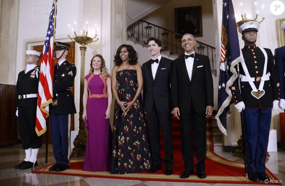 Le pr sident barack obama la premi re dame michelle obama for Annonceur maison du canadien