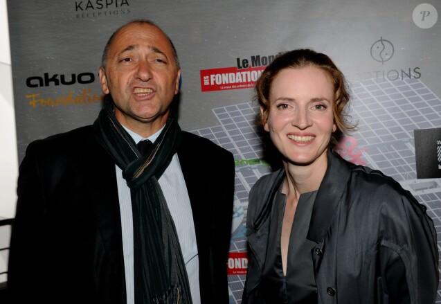 Nathalie Kosciusko-Morizet et son mari Jean-Pierre Philippe - Diner de l'écologie positive à la serre de l'Orangerie du Parc André Citroen, à Paris, le 12 septembre 2013