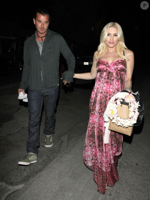 La chanteuse Gwen Stefani, enceinte et son mari Gavin Rossdale vont assister a une baby shower a Los Feliz, Californie, le 3 Novembre 2013.
