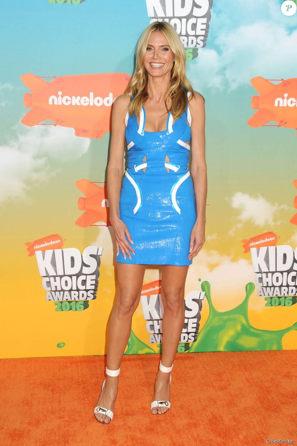 "Heidi Klum - People à la soirée ""Kids' Choice Awards"" au Forum à Inglewood. Le 12 mars 2016"