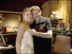REPORTAGE PHOTOS EXCLUSIVES  : Johnny Hallyday avec la chanteuse Joss Stone à l'enregistrement de son album !