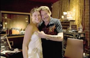 REPORTAGE PHOTOS EXCLUSIVES  : Johnny Hallyday avec la chanteuse Joss Stone à l'enregistrement de son album !