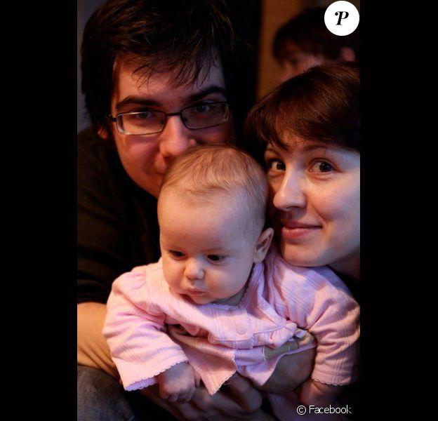 Vadym Kholodenko et son ex-femme Sofya Tsygankova avec leur fille Michela, sur Facebook. Janvier 2011
