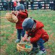 Les jumeaux de Zoe Saldana en pleine chasse aux oeufs. Photo publiée sur Instagram, le 27 mars 2016.