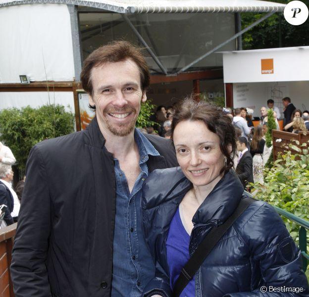 Nicolas Le Riche et sa femme Claire-Marie Osta, le 5 juin 2012 - Paris