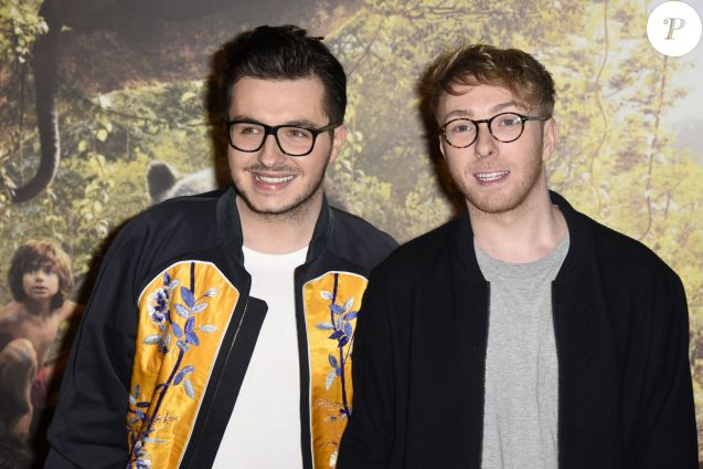Olympe (Joffrey Boulanger, The Voice 2) et son futur mari Julien Van Der Drisch lors de l'avant-première du film Disney 'Le Livre de la Jungle', au Pathé Beaugrenelle, Paris le 11 avril 2016.