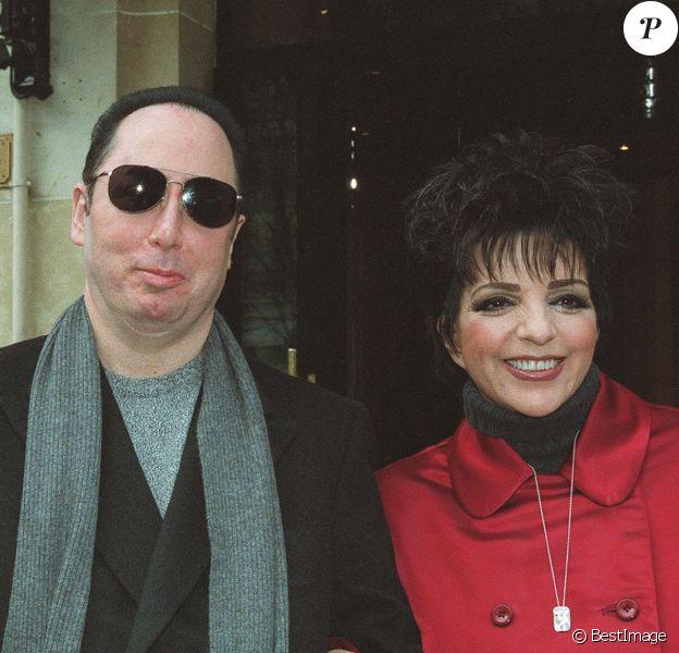 Liza Minnelli et David Gest à Paris, le 29 janvier 2002