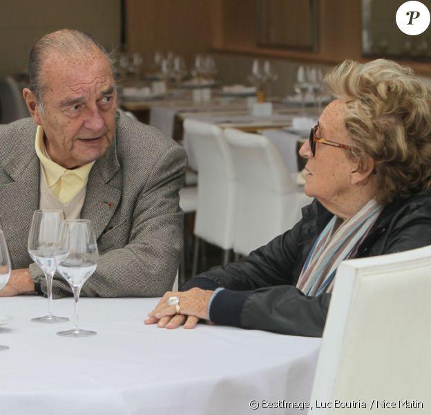 Jacques et Bernadette Chirac à Saint-Tropez le 4 octobre 2013