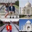 Le prince William et Kate Middleton, 24 ans après Lady Di, ont pris la pose devant le Taj Mahal le 16 avril 2016, au dernier jour de leur tournée royale en Inde.