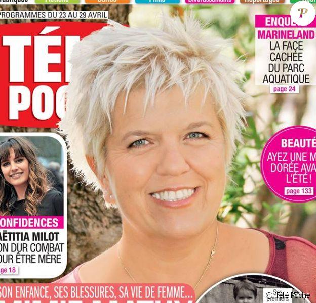 """Mimie Mathy en couverture du magazine """"Télé Poche"""", pour l'édition du 23 au 29 avril 2016"""