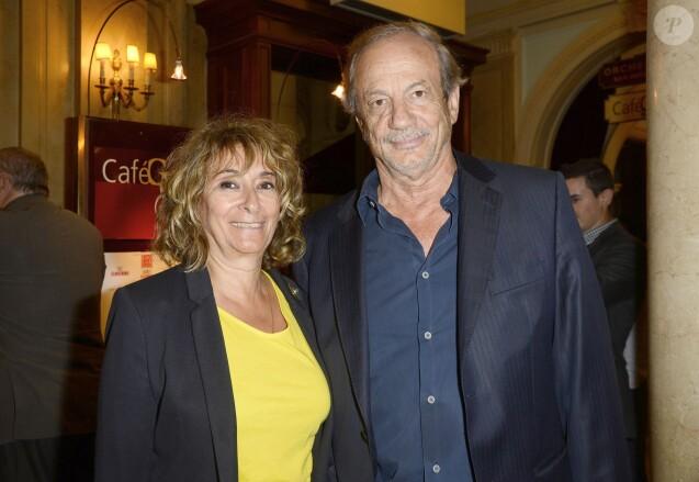 Josiane Stoléru et son mari Patrick Patrick Chesnais - 100 ans déjà ! - Hommage à Gisèle Casadesus au Théatre Edouard Vll à Paris le 29 septembre 2014.