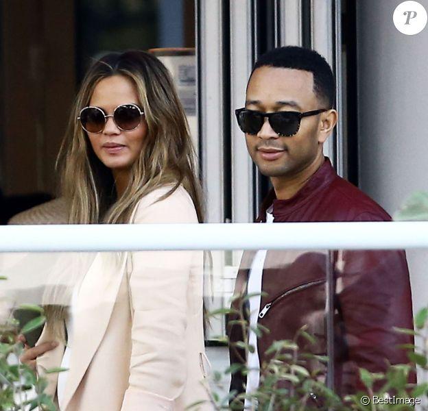 Chrissy Teigen et John Legend à Miami le 26 février 2016