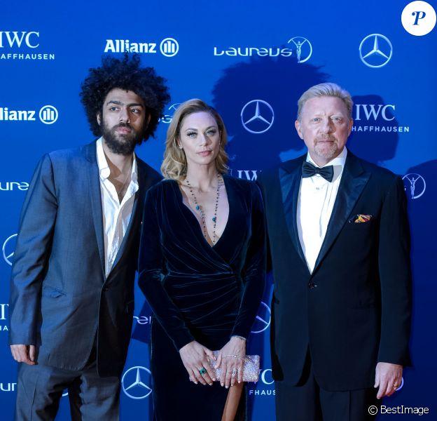 """Boris Becker avec sa femme Lilly Becker et son fils Noah Becker - Célébrités lors du """"Laureus World Sports Awards 2016"""" à Berlin le 18 Avril 2016.18/04/2016 - Berlin"""