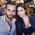 "Nikola Lozina en couple avec Miss Hawaï 2014, Moani Hara, lors du tournage des ""Anges 8""."