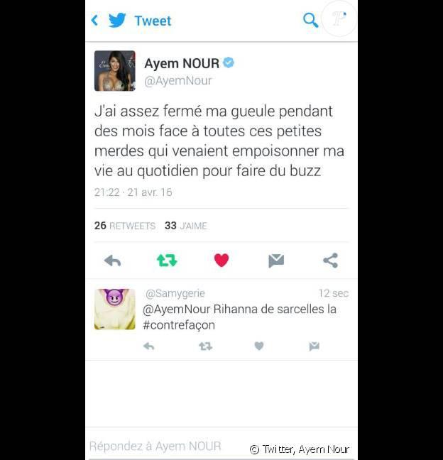 "Ayem Nour critique Nehuda des ""Anges 8"" sur Twitter"