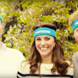 Kate Middleton, le prince William et le prince Harry ont participé le 21 avril dans les jardins de leur résidence du palais de Kensington à un spot de sensibilisation à la santé mentale pour le compte de l'association Heads Together révélé le 24 avril 2016.