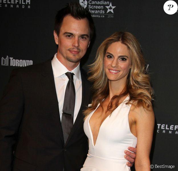 """Darin Brooks et Kelly Kruger à la 3ème soirée annuelle """"An Evening With Canada's Star"""" à l'hôtel The Four Seasons à Beverly Hills, le 25 février 2016"""