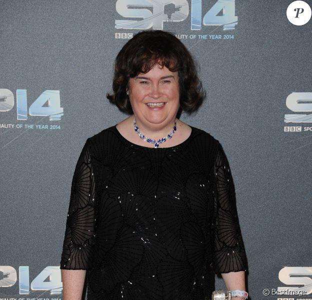 """Susan Boyle à la Soirée """"BBC Sports Personality of the Year"""" à Glasgow en Ecosse le 14 décembre 214."""