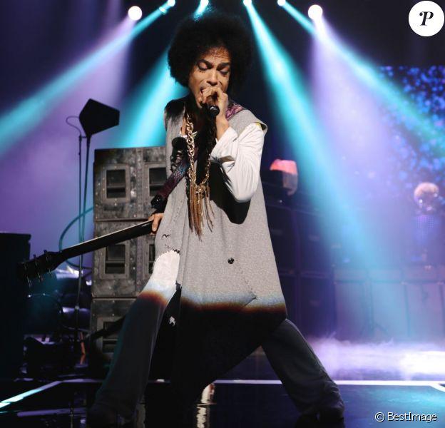 Le chanteur Prince en concert au Zénith à Paris. Le 1er juin 2014
