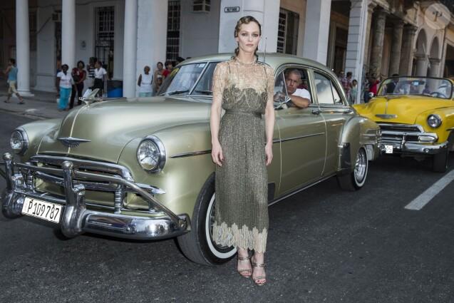 Vanessa Paradis -Defilé Croisière Chanel à La Havane à Cuba, le 3 mai 2016. © Olivier Borde/Bestimage