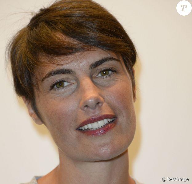 Alessandra Sublet -Conférence de presse de TF1 pour le lancement de l'Euro 2016 à Paris le 17 mai 2016. © Coadic Guirec/Bestimage