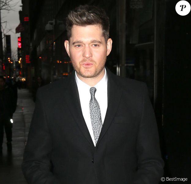 """Michael Buble se rend à """"Today"""" à New York, le 1er décembre 2015."""