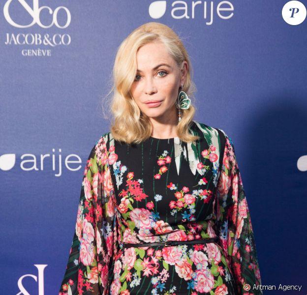 Emmanuelle Béart au 30e anniversaire du bijoutier et horloger Jacob & Co. à Cannes. Le 20 mai 2016.