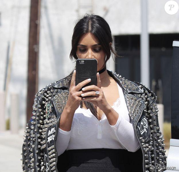 Kim Kardashian est allée à un rendez-vous d'affaires avec la compagnie SnapChat à Santa Monica, le 31 mai 2016 © CPA/Bestimage31/05/2016 - Santa Monica
