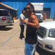 Ronaldinho à Las Vegas pour le tournage du film Kickboxer Retaliation. Photo publiée le 31 mai 2016.