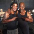 Photo de Ronaldinho et Mike Tyson publiée le 2 juin 2016.