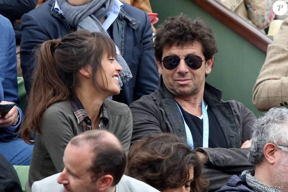 Patrick Bruel et sa compagne Caroline Nielsen dans les tribunes de la finale homme des internationaux de France de Roland Garros à Paris le 5 juin 2016. Moreau-Jacovides / Bestimage05/06/2016 - Paris