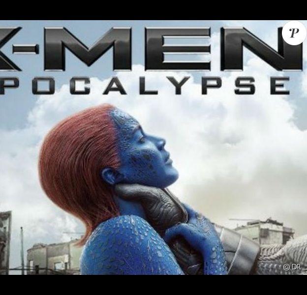 Affiche retirée par la Fox du film X-Men : Apocalypse après la polémique sur l'image qu'elle véhiculerait sur les violences faites aux femmes.