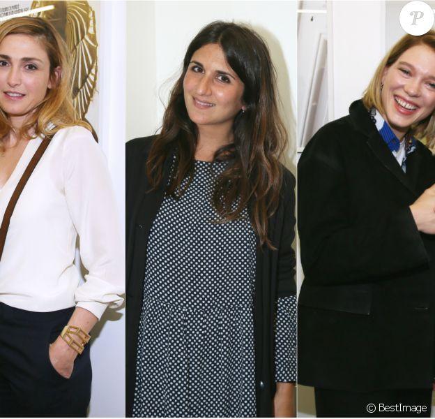 Julie Gayet, Géraldine Nakache et Léa Seydoux à l'expo 55 Femmes.