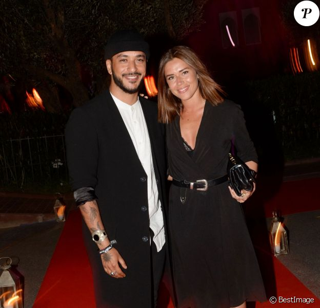 """Exclusif - Slimane Mokeddem (gagnant The Voice 5) et sa compagne Camille au cocktail """"Aftershow"""" dans le cadre du festival Marrakech du Rire 2016. Marrakech, le 4 juin 2016. © Bellack Rachid/Bestimage"""