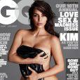Kim Kardashian en couverture du nouveau numéro du magazine GQ. Photo par Mert Alas et Marcus Piggott.