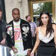 Kim Kardashian et son mari Kanye West sont allés déjeuner au restaurant Cipriani à New York, le 5 juin 2016 © CPA/Bestimage05/06/2016 - New York