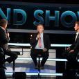 """Exclusif - Michel Drucker, Dominique Besnehard et Franck Dubosc- Enregistrement de l'émission le 16 juin 2016 """"Le Grand Show fête le Cinéma"""" à Paris, diffusée le 25 juin en prime time sur France 2."""
