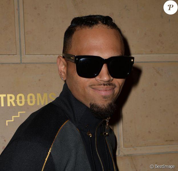 """Semi-exclusif - Chris Brown - Soirée NikeLab X Olivier Rousteing pour le lancement de la collection """"Football Nouveau"""" à la cité universitaire à Paris, le 1er juin 2016."""