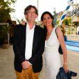 Luc Ferry et sa femme Marie-Caroline Becq Fouquières à l'inauguration de la fête des Tuileries organisée par Caroline Barclay le 24 juin 2016. © Coadic Guirec / Bestimage