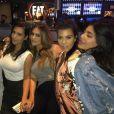 Larsa Pippen, Kim Kardashian, Carla DiBello, Kourtney Kardashian et Kylie Jenner - Soirée d'anniversaire de Khloé Kardashian au restaurant Dave and Buster's à Los Angeles. Photo publiée le 28 juin 2016.