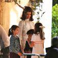 Exclusif - Katie Holmes tourne la scène du mariage de Jackie Kennedy et Aristote Onassis à Toronto le 17 juin 2016. Elle a eu la visite de sa fille Suri.