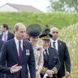 Le président français François Hollande, le prince William et Kate Catherine Middleton, duchesse de Cambridge - Dévoilement de la plaque inaugurale de la nouvelle aile du musée lors des commémorations du centenaire de la Bataille de la Somme à Thiepval, bataille qui fût la plus meurtrière de la Première Guerre Mondiale. Le 1er juillet 2016