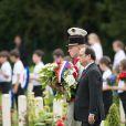 Le président français François Hollande - Commémorations du centenaire de la Bataille de la Somme à Thiepval, bataille qui fût la plus meurtrière de la Première Guerre Mondiale. Le 1er juillet 2016