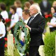 Le président d'Irlande Michael D. Higgins - Commémorations du centenaire de la Bataille de la Somme à Thiepval, bataille qui fût la plus meurtrière de la Première Guerre Mondiale. Le 1er juillet 2016