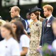 Le prince William, Kate Catherine Middleton, duchesse de Cambridge et le prince Harry - Commémorations du centenaire de la Bataille de la Somme à Thiepval, bataille qui fût la plus meurtrière de la Première Guerre Mondiale. Le 1er juillet 2016