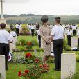 Kate Catherine Middleton, duchesse de Cambridge - Commémorations du centenaire de la Bataille de la Somme à Thiepval, bataille qui fût la plus meurtrière de la Première Guerre Mondiale. Le 1er juillet 2016