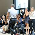 Cécile Cassel et Laeticia Hallyday - Défilé Alexandre Vauthier (collection Haute Couture automne-hiver 2016/17) au Palais de Tokyo à Paris, France, le 5 juillet 2016. © CVS-Veeren/Bestimage