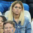 Mamadou Sakho et sa femme Majda, Mélanie (les anges 8, la compagne d'Anthony Martial) au match d'ouverture de l'Euro 2016, France-Roumanie au Stade de France, le 10 juin 2016. © Cyril Moreau/Bestimage