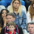 Mélanie (les anges 8, la compagne d'Anthony Martial) au match d'ouverture de l'Euro 2016, France-Roumanie au Stade de France, le 10 juin 2016. © Cyril Moreau/Bestimage